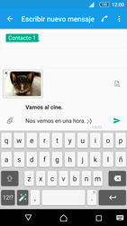 Sony Xperia Z5 - Mensajería - Escribir y enviar un mensaje multimedia - Paso 21
