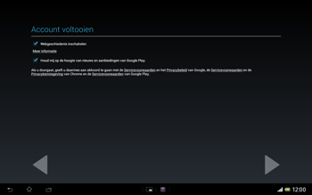 Sony SGP321 Xperia Tablet Z LTE - Applicaties - Account aanmaken - Stap 19