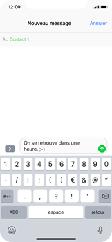 Apple iPhone X - Contact, Appels, SMS/MMS - Envoyer un SMS - Étape 8