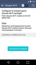 LG K4 - Internet et connexion - Partager votre connexion en Wi-Fi - Étape 11