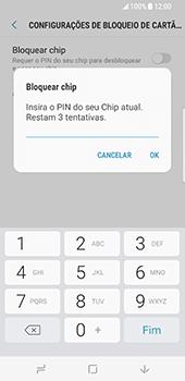 Samsung Galaxy S8 - Segurança - Como ativar o código PIN do cartão de telemóvel -  8