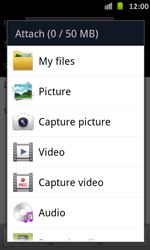 Samsung I9070 Galaxy S Advance - E-mail - Sending emails - Step 11