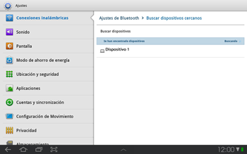Samsung P7500 Galaxy Tab 10-1 - Bluetooth - Conectar dispositivos a través de Bluetooth - Paso 7