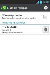 LG E612 Optimus L5 - Chamadas - Como bloquear chamadas de um número específico - Etapa 12