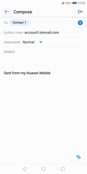 Huawei P Smart - Email - Sending an email message - Step 8