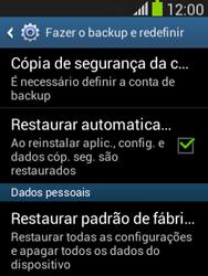 Samsung S5310B Galaxy Pocket Neo - Funções básicas - Como restaurar as configurações originais do seu aparelho - Etapa 7
