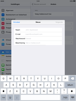 Apple iPad mini iOS 8 - E-mail - Handmatig instellen - Stap 7
