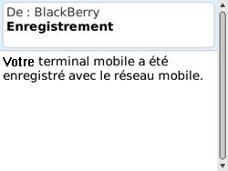 BlackBerry 8520 Curve - Paramètres - Reçus par SMS - Étape 10