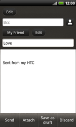 HTC S510b Rhyme - E-mail - Sending emails - Step 9