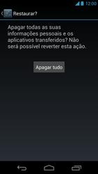 Motorola Moto X - Funções básicas - Como restaurar as configurações originais do seu aparelho - Etapa 9