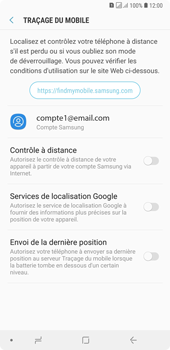 Samsung Galaxy A7 (2018) - Appareil - configurer Localiser mon appareil - Étape 6