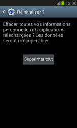 Samsung Galaxy S3 Mini - Aller plus loin - Restaurer les paramètres d'usines - Étape 7