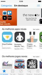 Apple iPhone 5s iOS 9 - Aplicações - Como pesquisar e instalar aplicações -  5