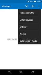 HTC One M9 - Mensajería - Configurar el equipo para mensajes de texto - Paso 6