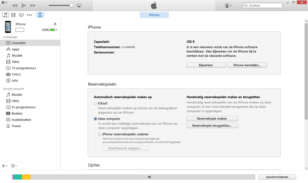 Apple iPad Mini 3 - Software - Backup maken van je toestel - Stap 5