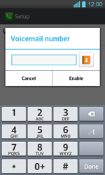 LG P710 Optimus L7 II - Voicemail - Manual configuration - Step 8