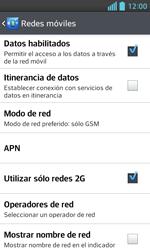 LG Optimus L5 II - Red - Seleccionar el tipo de red - Paso 8
