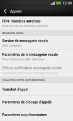 HTC Desire 500 - Messagerie vocale - Configuration manuelle - Étape 5