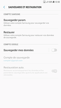 Samsung Galaxy J7 (2017) - Device maintenance - Back up - Étape 8