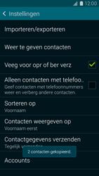 Samsung Galaxy K Zoom 4G (SM-C115) - Contacten en data - Contacten kopiëren van toestel naar SIM - Stap 12