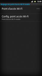 Sony Xpéria S - Internet et connexion - Partager votre connexion en Wi-Fi - Étape 10