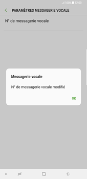 Samsung Galaxy S8 Plus - Android Oreo - Messagerie vocale - configuration manuelle - Étape 10