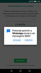 Huawei P10 Lite - Aplicações - Como configurar o WhatsApp -  12