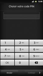 Sony Xpéria S - Sécuriser votre mobile - Activer le code de verrouillage - Étape 7