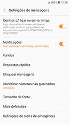 Samsung Galaxy A5 (2017) - SMS - Como configurar o centro de mensagens -  6