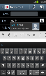 Samsung I8190 Galaxy S III Mini - E-mail - Sending emails - Step 6
