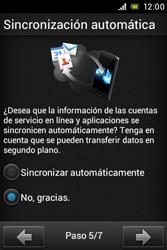 Sony Xperia E - Primeros pasos - Activar el equipo - Paso 8