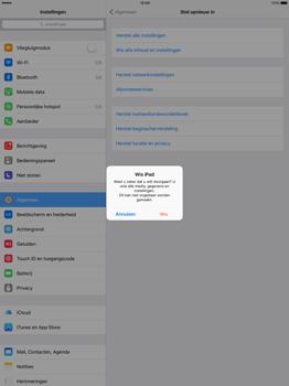 Apple iPad Pro 12.9 inch met iOS9 (Model A1652) - Instellingen aanpassen - Fabrieksinstellingen terugzetten - Stap 6