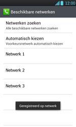 LG P700 Optimus L7 - Netwerk - Handmatig netwerk selecteren - Stap 12