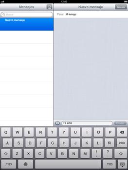 Apple iPad 2 - Mensajería - Escribir y enviar un mensaje multimedia - Paso 8