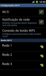 Samsung I9100 Galaxy S II - Wi-Fi - Como configurar uma rede wi fi - Etapa 7