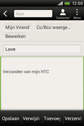 HTC A320e Desire C - E-mail - hoe te versturen - Stap 9