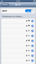 Apple iPhone 5 - Wifi - configuration manuelle - Étape 4