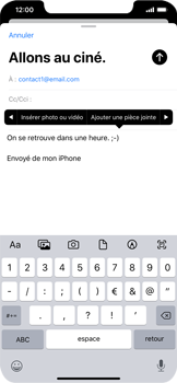 Apple iPhone XR - iOS 13 - E-mail - envoyer un e-mail - Étape 9