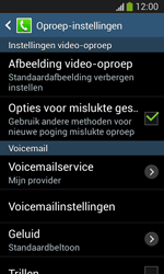 Samsung I8200N Galaxy S III Mini VE - Voicemail - Handmatig instellen - Stap 6
