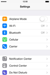 Apple iPhone 4 iOS 7 - Internet - Enable or disable - Step 3