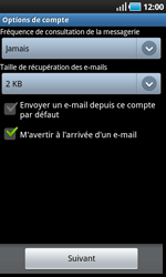 Samsung I9000 Galaxy S - E-mail - Configuration manuelle - Étape 10