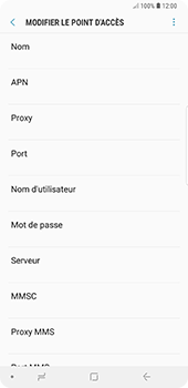 Samsung Galaxy Note9 - MMS - configuration manuelle - Étape 10