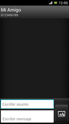 Sony Xperia J - Mensajería - Escribir y enviar un mensaje multimedia - Paso 11
