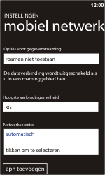 Nokia Lumia 900 - Buitenland - Bellen, sms en internet - Stap 7