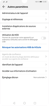 Huawei P30 - Sécurité - modifier SIM PIN - Étape 5