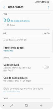 Samsung Galaxy S9 - Internet no telemóvel - Como ativar os dados móveis -  6