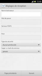 Sony LT28h Xperia ion - E-mail - Configuration manuelle - Étape 7