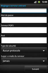 Sony ST27i Xperia Go - E-mail - Configuration manuelle - Étape 9