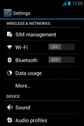 Acer Liquid Z3 - Internet - Enable or disable - Step 4