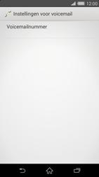 Sony D6503 Xperia Z2 - Voicemail - handmatig instellen - Stap 10